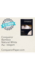 PAPER - Bamboo.64440, TINT:NaturalWhite, FINISH:Bamboo, PAPER:100gsm, SIZE:A4-210x297mm, QTY:500Sheets, WATERMARK:Yes