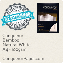 PAPER - Bamboo.64440, TINT:NaturalWhite, FINISH:Bamboo, PAPER:100gsm, SIZE:A4-210x297mm, QTY:2,500Sheets, WATERMARK:Yes