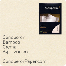 PAPER - Bamboo.64446 C, TINT:Crema, FINISH:Bamboo, PAPER:120gsm, SIZE:A4-210x297mm, QTY:500Sheets, WATERMARK:No