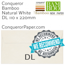 ENVELOPES - BAMBOO.72244, TINT=NaturalWhite, WINDOW=No, TYPE=Wallet, QUANTITY=500, SIZE=DL-110x220mm