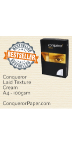 PAPER - Laid.25574, TINT:Cream, FINISH:Laid, PAPER:100gsm, SIZE:A4 - 210x297mm, QTY:500Sheets, WATERMARK:Yes