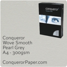 PAPER - Wove.64030C, TINT:Pearl Grey, FINISH:Wove, PAPER:300gsm, SIZE:A4-210x297mm, QTY:100Sheets, WATERMARKED:No