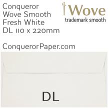 ENVELOPES - Wove.82910, TINT=FreshWhite, WINDOW=No, TYPE=Wallet, SIZE=DL-110x220mm, QUANTITY=500, Recycled