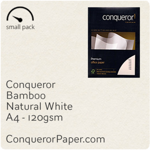 PAPER - Bamboo.64445SP, TINT:NaturalWhite, FINISH:Bamboo, PAPER:120gsm, SIZE:A4-210x297mm, QTY:50Sheets, WATERMARK:No