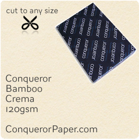 PAPER - Bamboo.64446, TINT:Crema, FINISH:Bamboo, PAPER:120gsm, SIZE:B1-700x1000mm, QTY:250Sheets, WATERMARK:No