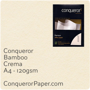 PAPER - Bamboo.64446C, TINT:Crema, FINISH:Bamboo, PAPER:120gsm, SIZE:A4-210x297mm, QTY:500Sheets, WATERMARK:No