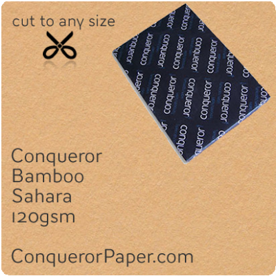 PAPER - Bamboo.64447, TINT:Sahara, FINISH:Bamboo, PAPER:120gsm, SIZE:B1-700x1000mm, QTY:250Sheets, WATERMARK:No