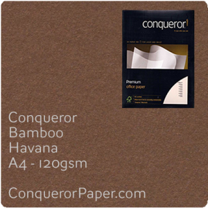 PAPER - Bamboo.64449C, TINT:Havana, FINISH:Bamboo, PAPER:120gsm, SIZE:A4-210x297mm, QTY:500Sheets, WATERMARK:No