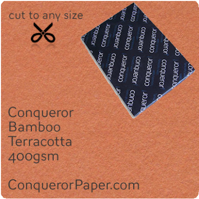 PAPER - Bamboo.64474, TINT:Terracotta, FINISH:Bamboo, PAPER:400gsm, SIZE:700x1000mm, QTY:50Sheets, WATERMARK:No