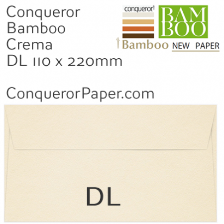 ENVELOPES - BAMBOO.72245, TINT=Crema, WINDOW=No, TYPE=Wallet, QUANTITY=500, SIZE=DL-110x220mm