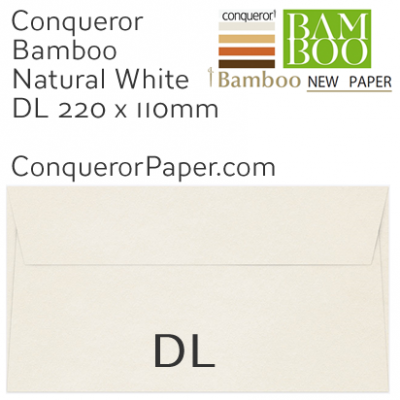 ENVELOPES - BAMBOO.72249, TINT=NaturalWhite, WINDOW=No, TYPE=Pocket, QUANTITY=500, SIZE=DL-220x110mm