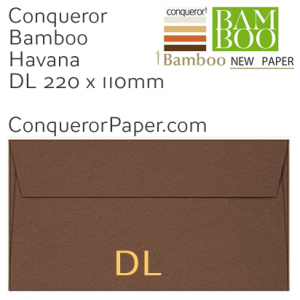 ENVELOPES - BAMBOO.72252, TINT=Havana, WINDOW=No, TYPE=Pocket, QUANTITY=500, SIZE-DL-220x110mm