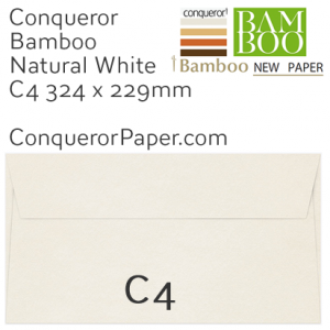 ENVELOPES - BAMBOO.72255, TINT=NaturalWhite, WINDOW=No, TYPE=Wallet, QUANTITY=250, SIZE=C4-229x324mm