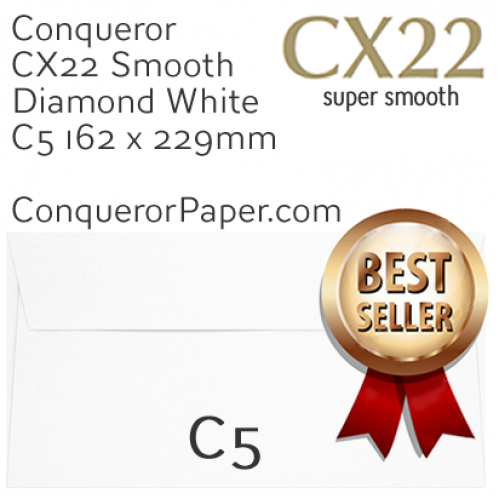 ENVELOPES - CX22.01020, TINT=DiamondWhite, WINDOW=NoWindow, TYPE=Wallet, QUANTITY=250, SIZE=C5-162x229mm