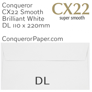 ENVELOPES - CX22.01517, TINT=BrilliantWhite, WINDOW=NoWindow, TYPE=Wallet, QUANTITY=500, DL-110x220mm