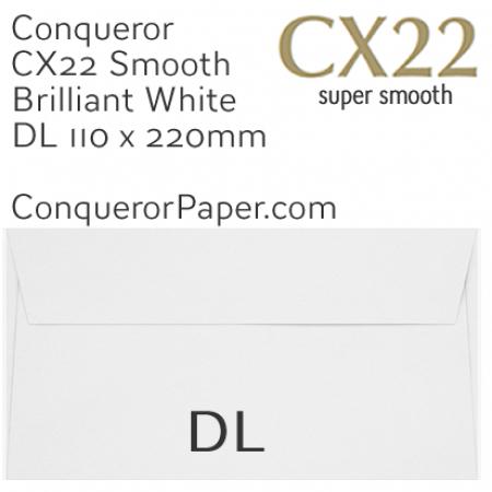 ENVELOPES - CX22.01517, TINT=BrilliantWhite, WINDOW=NoWindow, TYPE=Wallet, QUANTITY=500, DL-110x220mm