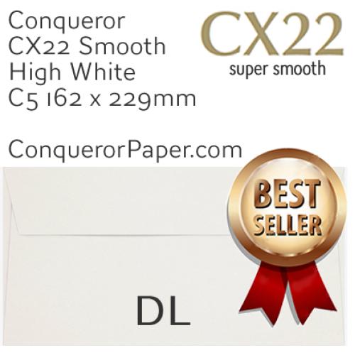 ENVELOPES - CX22.01518, TINT=HighWhite, WINDOW=NoWindow, TYPE=Wallet, QUANTITY=500, SIZE=DL-110x220mm