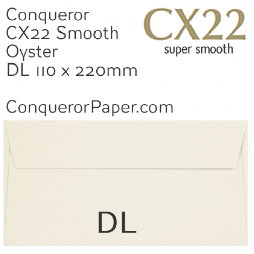 ENVELOPES - CX22.01519, TINT=Oyster, WINDOW=NoWindow, TYPE=Wallet, QUANTITY=500, SIZE=DL-110x220mm