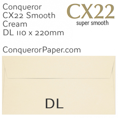 ENVELOPES - CX22.01521, TINT=Cream, WINDOW=NoWindow, TYPE=Wallet, QUANTITY=500, SIZE=DL-110x220mm