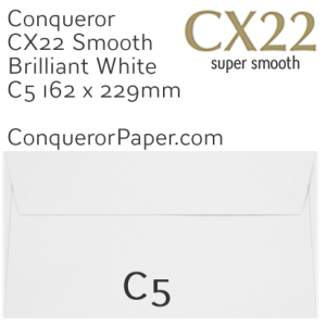 ENVELOPES - CX22.01542, TINT=BrilliantWhite, WINDOW=NoWindow, TYPE=Wallet, QUANTITY=250, SIZE=C5-162x229mm