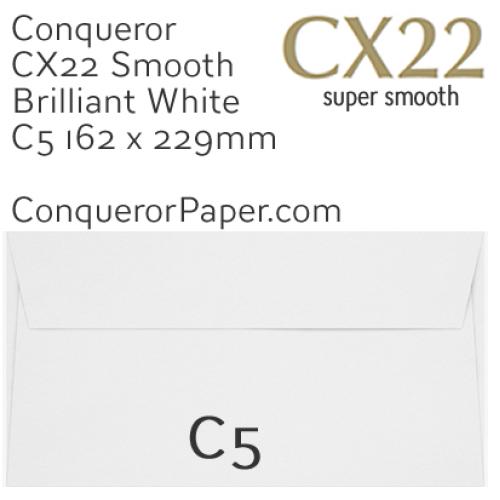 ENVELOPES - CX22.01542, TINT=BrilliantWhite, WINDOW=NoWindow, TYPE=Wallet, QUANTITY=250, SIZE=C5-162x229mm