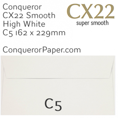 ENVELOPES - CX22.01546, TINT=HighWhite, WINDOW=NoWindow, TYPE=Wallet, QUANTITY=250, SIZE=C5-162x229mm