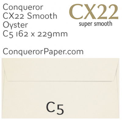 ENVELOPES - CX22.01548, TINT=Oyster, WINDOW=NoWindow, TYPE=Wallet, QUANTITY=250, SIZE=C5-162x229mm