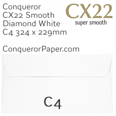 ENVELOPES - CX22.01570, TINT=DiamondWhite, WINDOW=NoWindow, TYPE=Wallet, QUANTITY=250, SIZE=C4-324x229mm