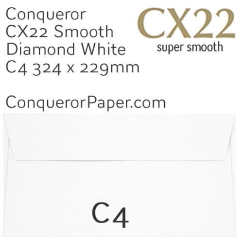 ENVELOPES - CX22.01570, TINT=DiamondWhite, WINDOW=NoWindow, TYPE=Wallet, QUANTITY=250, SIZE=C4-324x229mm