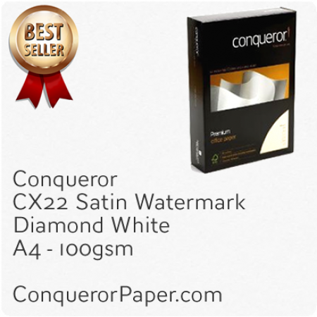 PAPER - CX22.20248, TINT:DiamondWhite, FINISH:CX22, PAPER:100gsm, SIZE:A4 210x297mm, QTY:2,500Sheets, WATERMARK:Yes