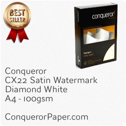 PAPER - CX22.20248, TINT:DiamondWhite, FINISH:CX22, PAPER:100gsm, SIZE:A4 210x297mm, QTY:500Sheets, WATERMARK:Yes