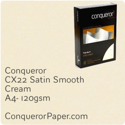 PAPER - CX22.42499C, TINT:Cream, FINISH:CX22, PAPER:120gsm, SIZE:A4-210x297mm, QUANTITY:500Sheets, WATERMARK:No