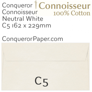 ENVELOPES - CONNOISSEUR.03000, TINT=NeutralWhite, WINDOW=No, TYPE=Wallet, QUANTITY=250, SIZE=C5-162x229mm