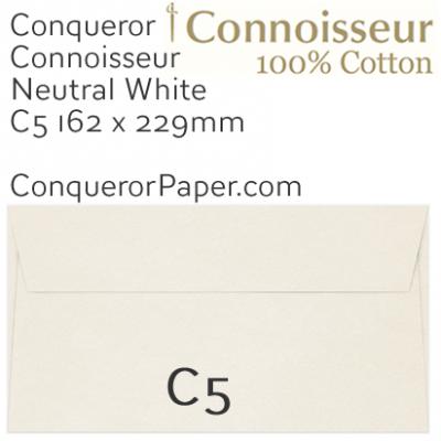 ENVELOPES - CONNOISSEUR.03000, TINT=NeutralWhite, WINDOW=No, TYPE=Wallet, QUANTITY=250, SIZE=C5-162x229mm