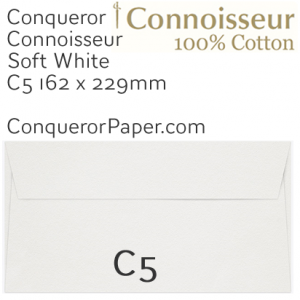 ENVELOPES - CONNOISSEUR.03001, TINT=SoftWhite, WINDOW=No, TYPE=Wallet, QUANTITY=250, SIZE=C5-162x229mm