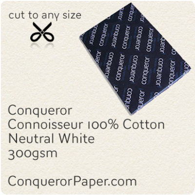 PAPER - CONNOISSEUR.25237, TINT:Neutral, FINISH:Cotton, PAPER:300gsm, SIZE:700x1000mm, QUANTITY:100Sheets, WATERMARK:No