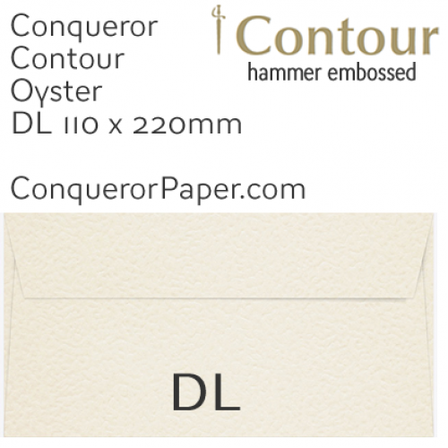 ENVELOPES - CONTOUR.01137, TINT=Oyster, WINDOW=No, TYPE=Wallet, QUANTITY=500, SIZE=DL-110x220mm