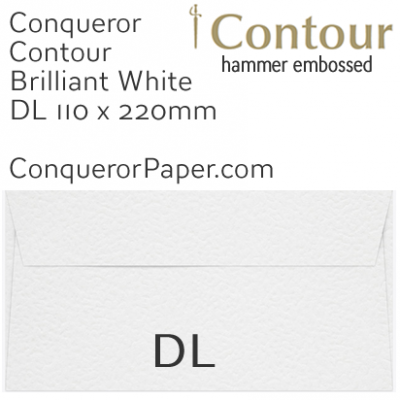 ENVELOPES - CONTOUR.01351, TINT=BrilliantWhite, WINDOW=No, TYPE=Wallet, QUANTITY=500, SIZE=DL-110x220mm