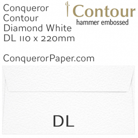 ENVELOPES - CONTOUR.01522, TINT=DiamondWhite, WINDOW=No, TYPE=Wallet, QUANTITY=500, SIZE=DL-110x220mm