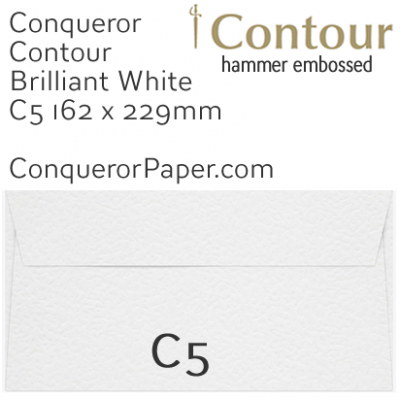 ENVELOPES - CONTOUR.01552, TINT=BrilliantWhite, WINDOW=No, TYPE=Wallet, QUANTITY=250, SIZE=C5-162x229mm