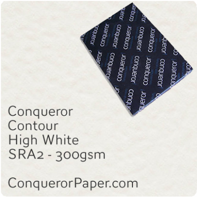 PAPER - CONTOUR.12236, TINT:HighWhite, FINISH:Contour, PAPER:300gsm, SIZE:450x640mm, QUANTITY:100Sheets, WATERMARK:No