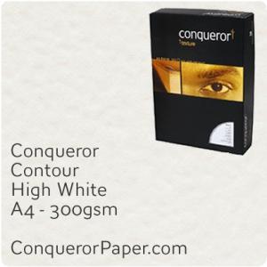 PAPER - CONTOUR.12236C, TINT:HighWhite, FINISH:Contour, PAPER:300gsm, SIZE:A4-210x297mm, QUANTITY:100Sheets, WATERMARK:No