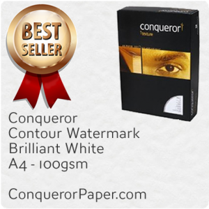 PAPER - CONTOUR.20734, TINT:BrilliantWhite, FINISH:Contour, PAPER:100gsm, SIZE:A4-210x297mm, QTY:500Sheets, WATERMARK:Yes