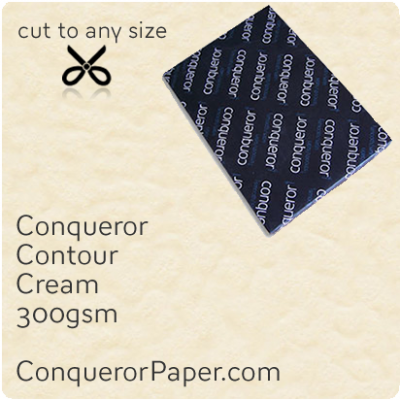 PAPER - CONTOUR.21951, TINT:Cream, FINISH:Contour, PAPER:300gsm, SIZE:450x640mm, QUANTITY:100Sheets, WATERMARK:No