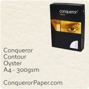 PAPER - CONTOUR.21953C, TINT:Oyster, FINISH:Contour, PAPER:300gsm, SIZE:A4-210x297mm, QUANTITY:100Sheets, WATERMARK:No