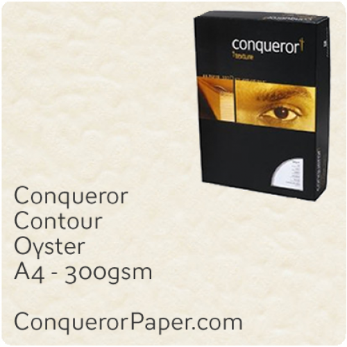 PAPER - CONTOUR.21953C, TINT:Oyster, FINISH:Contour, PAPER:300gsm, SIZE:A4-210x297mm, QUANTITY:100Sheets, WATERMARK:No