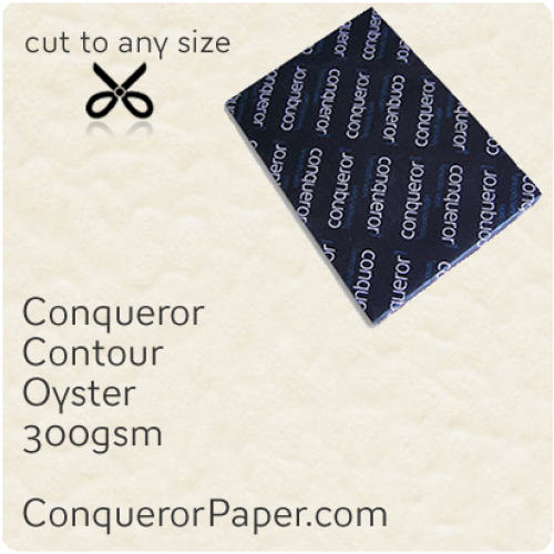 PAPER - CONTOUR.25256, TINT:Oyster, FINISH:Contour, PAPER:300gsm, SIZE:700x1000mm, QUANTITY:100Sheets, WATERMARK:No
