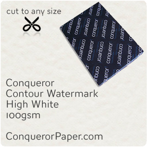 PAPER - CONTOUR.25728, TINT:HighWhite, FINISH:Contour, PAPER:100gsm, SIZE:450x640mm, QUANTITY:500Sheets, WATERMARK:Yes