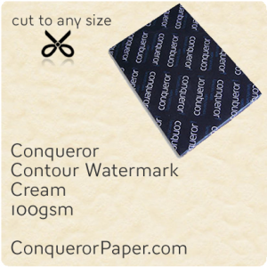 PAPER - CONTOUR.25762, TINT:Cream, FINISH:Contour, PAPER:100gsm, SIZE:450x640mm, QUANTITY:500Sheets, WATERMARK:Yes