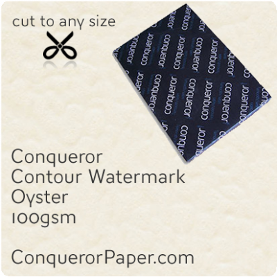 PAPER - CONTOUR.25768, TINT:Oyster, FINISH:Contour, PAPER:100gsm, SIZE:450x640mm, QUANTITY:500Sheets, WATERMARK:Yes